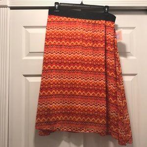 Lularoe Lola skirt, 2XL, pink and orange, BNWT